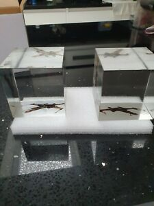 DeAgostini Star Wars X-Wing Glass Bookends  - Brand New - HEAVY