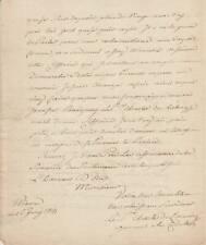 Charles de LORRAINE, prince de LAMBESC autographe / [Charge du ROYAL-ALLEMAND]