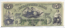 "19th Century US Obsolete Currency - Strafford Bank, NH ""A"" - $5, Unissued Unc*"