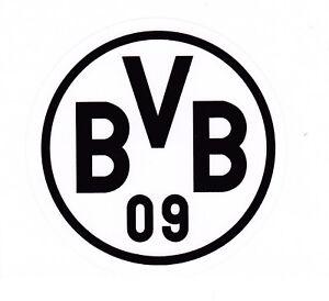 BVB Borussia Dortmund  Aufkleber Sticker 5,5 cm SCHWARZ Fussball Bundesliga