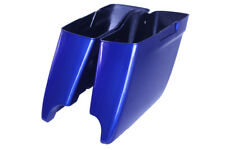"""Superior blue ABS 2014-2017 Harley HD 4.5"""" Stretched Extended Saddlebags Bottoms"""