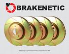 [FRONT + REAR] BRAKENETIC SPORT SLOTTED Brake Disc Rotors STi w/BREMBO BSR79813