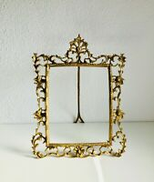 "10.6""x8.5"" PICTURE FRAME Antique Rococo Leaf Acanthus Scroll Cast Bronze KPM"