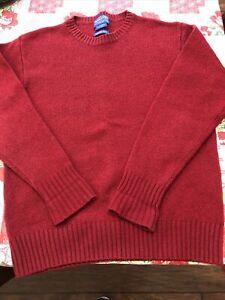 Pendelton -Sz Sm Soft Maroon Shetland  washable Wool  Crewneck Sweater