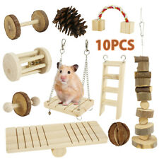 10pcs Natural Wooden Chew Pets Toy for Pine,Hamster,Guinea pig,Rabbits,Birds AU