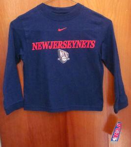 NEW JERSEY NETS longsleeves youth small NEW basketball 1997 logo NWT kids size 5
