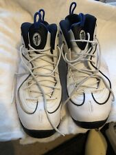 Nike Penny II Basketball Shoes White Black Royal Blue 333886-100 SZ 14