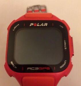 Polar RC3 GPS Heart Rate Monitor and Sports Watch - Red/Orange