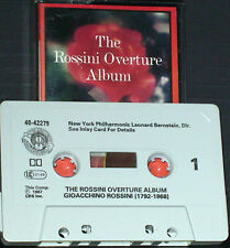 BERNSTEIN SZELL WEIKERT ROSSINI OVERTURE  CASSETTE ALBUM CLASSICAL 90 MINUTE CBS