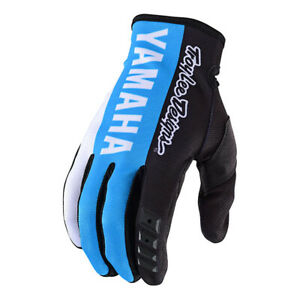 Troy Lee Designs Mens Adult 2019 GP Glove YAMAHA Black/Cyan MX/Motocross/ATV
