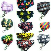 Spirius Lanyard Neck Strap for ID Badge Holder with metal clip multicolour