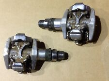 Shimano XT PD-M747 Pedals Clipless SPD Silver mtb mountain bike 9/16 clip less