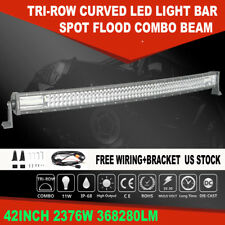 "Curved 42"" inch 2376W LED Light Bar Combo Driving Lamp For Ford Dodge 40"" 44"" 7D"
