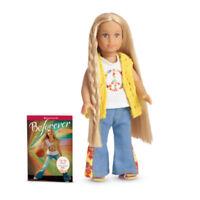 "American Girl JULIE MINI DOLL BEFOREVER 6.5"" + BOOK Blonde Hippie Julie's NEW"