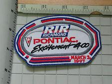Pontiac 400  Excitement RIR Richmond Racing Patch , (#2345)