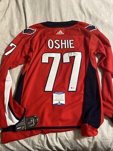TJ Oshie Signed Autographed Jersey Washington Capitals Beckett COA