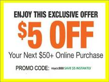 Home Depot Coupon $5 Off $50 [Online-Use Only] -Very-Fast_Sent-