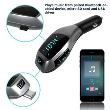Bluetooth Car Kit MP3 Wireless FM Transmitter Radio USB SD LCD Charger Handsfree