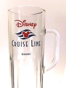 Disney Cruise Line Tall Glass Mug Beer Stein Vacation Souvenir Collectible