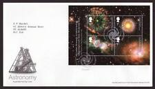 29047) UK - GREAT BRITAIN 2002 FDC Astronomy s/s