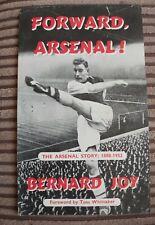 Forward, Arsenal Promotional Leaflet For Book, Bernard Joy