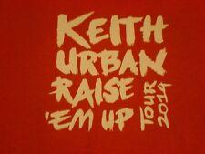 Keith Urban Raise 'Em up Tour 2014 Local Crew T-shirt Size XL