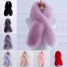 Women Faux Fur Scarf Collar Winter Warm Fluffy Furry Shawl Wrap Stole Soft Long