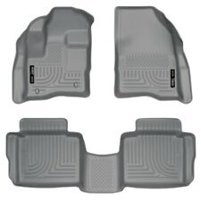 Husky WeatherBeater Grey Front & 2nd Row Floor Liners for 2010-2018 Ford Taurus
