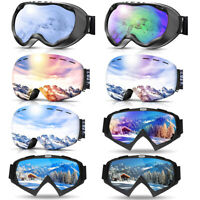 Wide View Snowboard Goggles Helmet Compatible For Motorcycle Winter Ski Sports