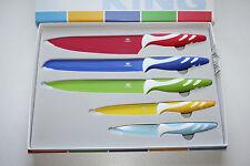 Messer-Set King protect 5-Tlg. NEU Edelstahl beschichtet. Antibakterielle Aussta