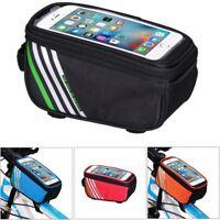 Bike Mobile Phone Holder Waterproof Bag Frame Mount Holder Cross Bar Top Tube UK