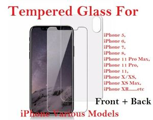 Front And Back Tempered Glass 360 Screen Protector For Apple iPhone X XS Xs Max