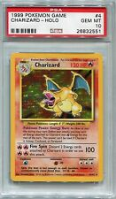 Pokemon Card Unlimited Charizard Base Set 4/102, PSA 10 Gem Mint
