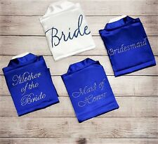 RHINESTONE BRIDAL PARTY Women's SILK Kimono Robes Bathrobe BRIDE, BRIDESMAID