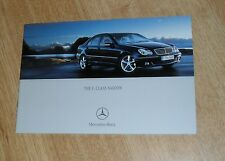 Mercedes C Class Brochure 2004 C55 AMG C200 C220 C270 CDI C180K C200K Avantgarde