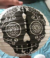 Six Sugar Skull Black And White Lanterns No Packaging But Never Used.