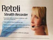 Phone Telephone Recorder Recording Software  RETELI STEALTH on your PC Computer