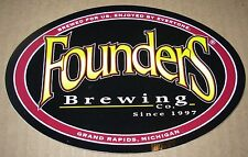FOUNDERS BREWING CO iconic logo STICKER decal craft beer Grand Rapids Brewery