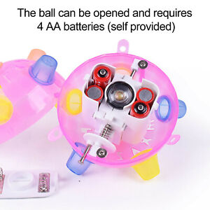 Creative Flashing Dancing Ball With Colorful LED Light And Music Toys For Kids A
