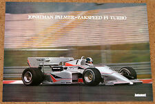 Jonathan Palmer F1 Poster - 1985 Zakspeed 841