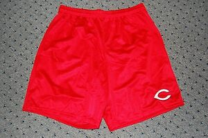 Cincinnati Reds Athletic Red Mesh Gym Shorts Authentic XXL New Votto Bruce