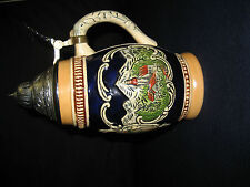 Porcelain Stein with Silver Top Depicting Salzburg , Austria (Germany) beautiful