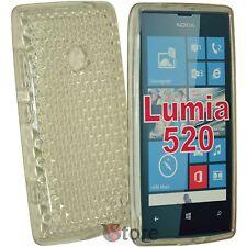 Cover For Nokia Lumia 520 Clear Gel silicone TPU silicone