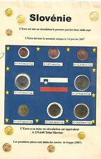8 pièces EURO - SLOVENIE - 2007 - Série - FDC -  (Sous vide)