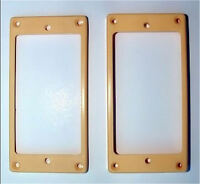 Humbucker Guitar Pickup MOUNTING RINGS Trim Bezels - Set of 2 - CREAM IVORY