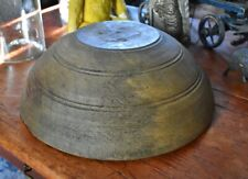 Large Antique Thick-Walled Wooden Bowl *