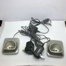 Panasonic PNLC1056 YA  2 Phone Charger Cradle + Extra Power Adapter TESTED