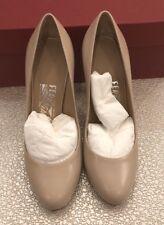 $650 New Salvatore Ferragamo New Womens Heels Ladies Beige Shoes Size 5 C US 35