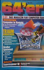 64er Magazin (64´er) 05/89 Mai 1989 C64 (Drucker, Last Ninja II)