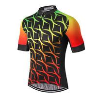 Men's Cycling Jersey Clothing Bicycle Sportswear Short Sleeve Bike Shirt Top X00
